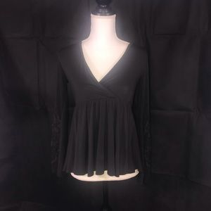 American Eagle Soft and Sexy Black Blouse